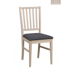 Filippa stol Vitpigmenterad grå