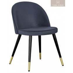 Sala stol svart mässing