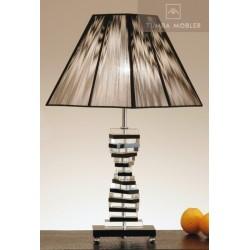 Trappsteg svart bordslampa