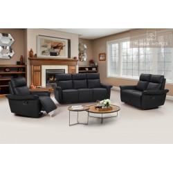 Buffalo recliner soffa 3+2+1 svart