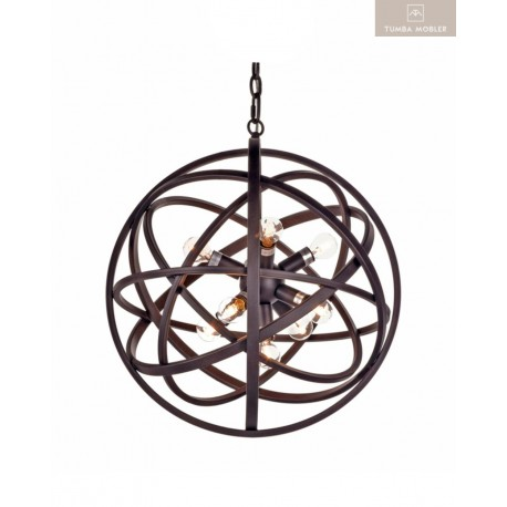 Nest taklampa svart Ø50 cm