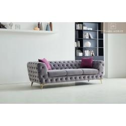 Violett soffa