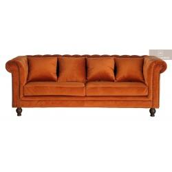 Velvet soffa orange