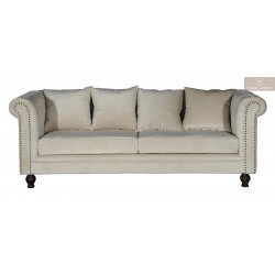 Velvet soffa beige