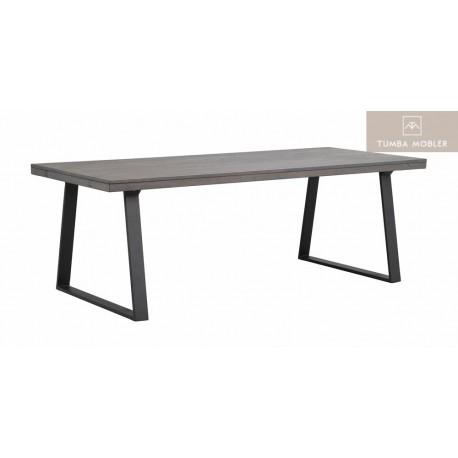 Brooklyn matbord mörkbrun u-ben 220 cm