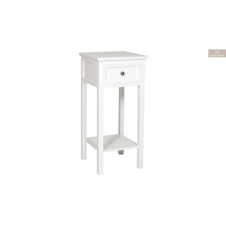 Bristol sängbord 1 lådig vit
