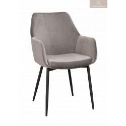 Reily karmstol grå sammet
