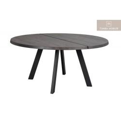 Fred rund matbord mörkbrun